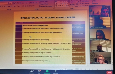 First Online Meeting of the Digital Literacy Portal project
